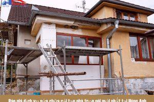 Báo giá dịch vụ sửa chữa cải tạo nhà trọn gói 2021