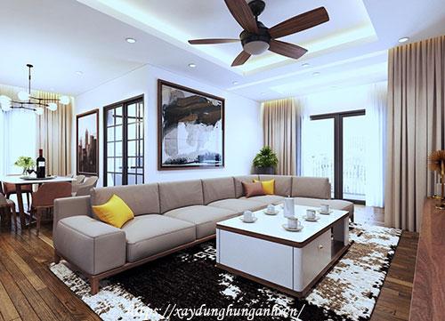 thiết kế bố trí nội thất nhà liền kề