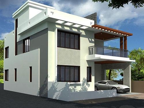 Nhà 2 tầng mái bằng