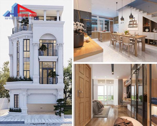 cải tạo nhà 4 tầng phong cách cổ điển