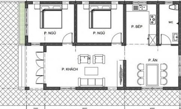 bản vẽ xây nhà cấp 4 giá 80 triệu