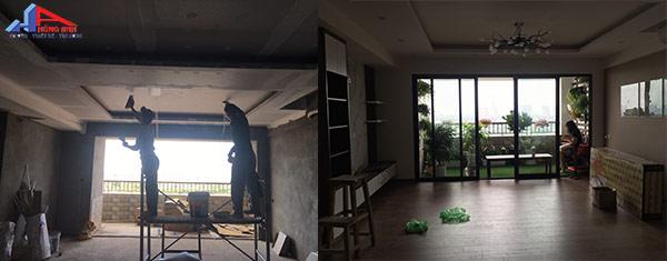 nhà trước và sau khi cải tạo