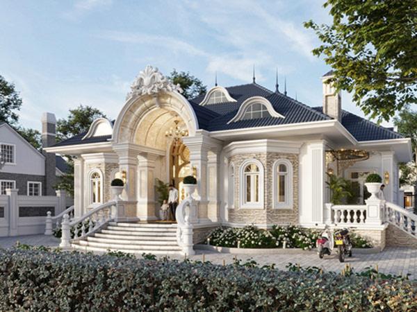 Nhà biệt thự kiểu Pháp hiện đại