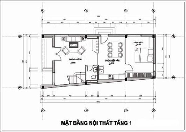 Nhà ống 2 tầng 4 phòng ngủ