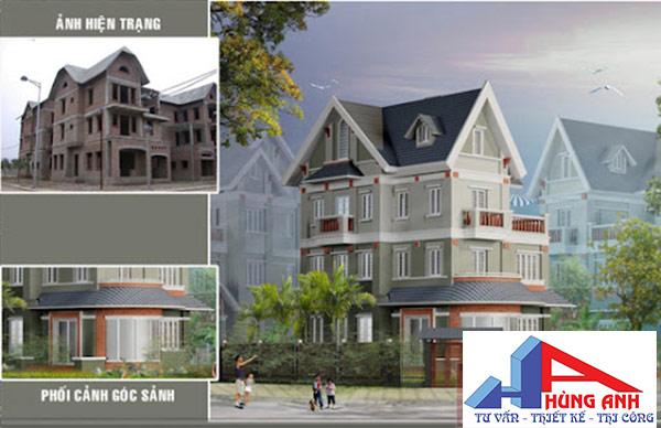Phương án cải tạo nhà biệt thự