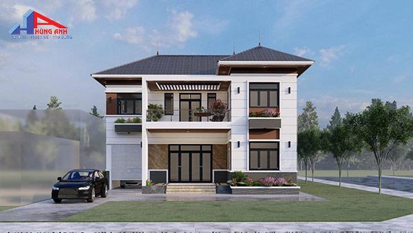 Thiết kế xây nhà 2 tầng 600 triệu