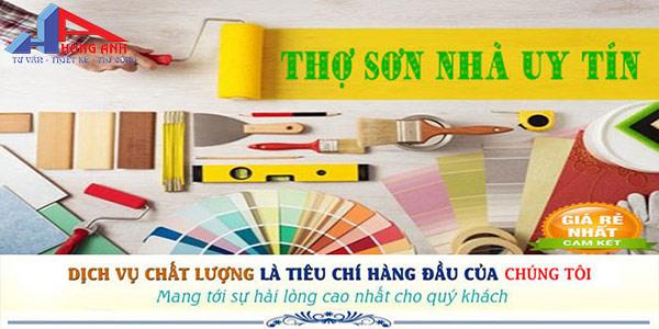 dịch vụ sơn nhà trọn gói của Hùng Anh