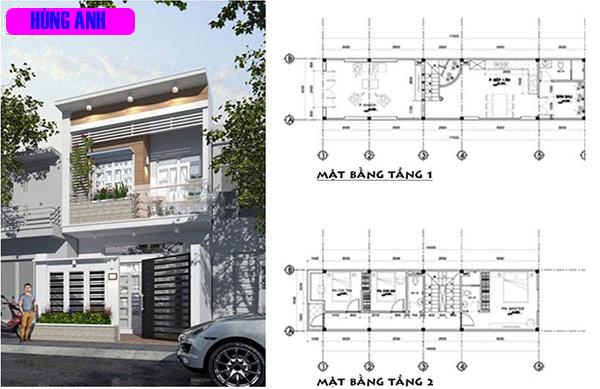 Thiết kế nhà 30m2 2 tầng 2 phòng ngủ