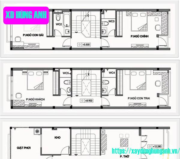 Thiết kế nhà 30m2 3x10