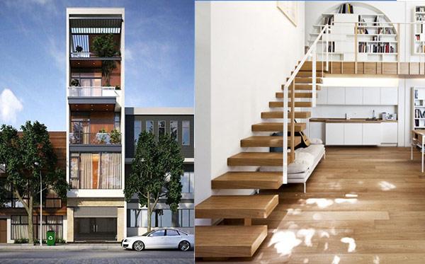 Thiết kế nhà 30m2 4 tầng có gác lửng