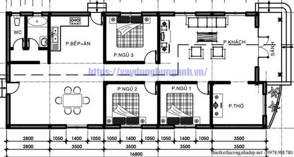 Bản thiết kế nhà rộng 6m dài 11m