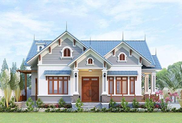 Mẫu nhà biệt thự 1 tầng mái thái đẹp