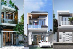Thiết kế mặt bằng các mẫu nhà 2 tầng 5x15m hiện đại