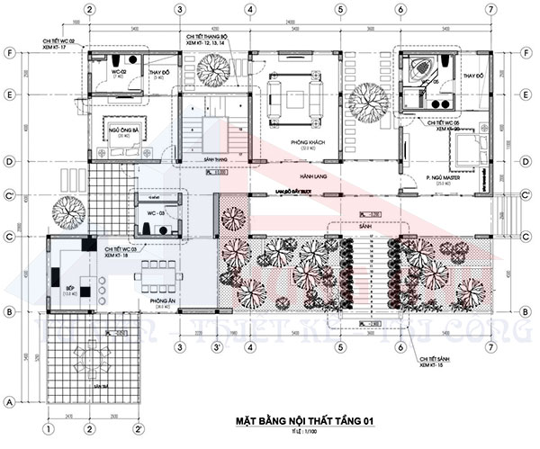 Bản vẽ nhà 2 tầng hiện đại 1 hầm tầng 1