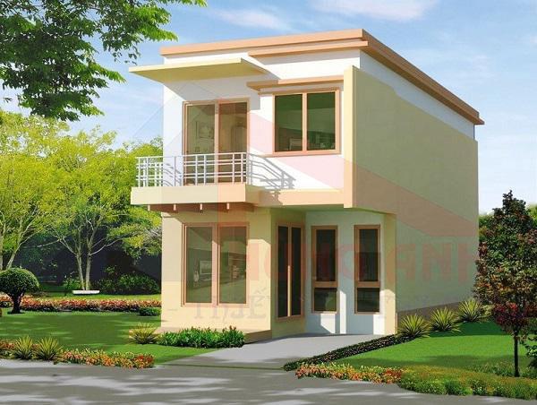 mẫu nhà 2 tầng đẹp ở nông thôn 2020