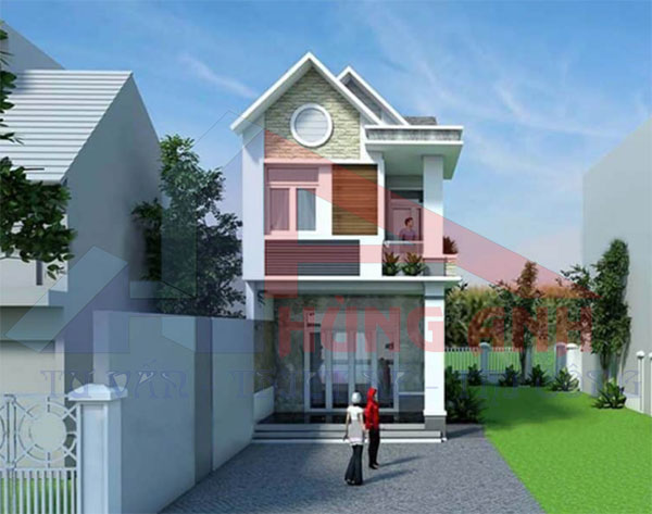 Mẫu nhà 2 tầng mái thái 5x15