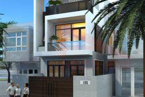 Bản thiết kế nhà 2 tầng 7×13 chi phí 600 triệu tại Hùng Anh