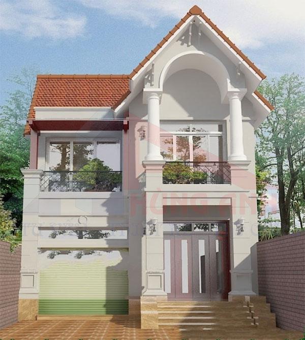 nhà 2 tầng 7x13 chi phí 600 triệu