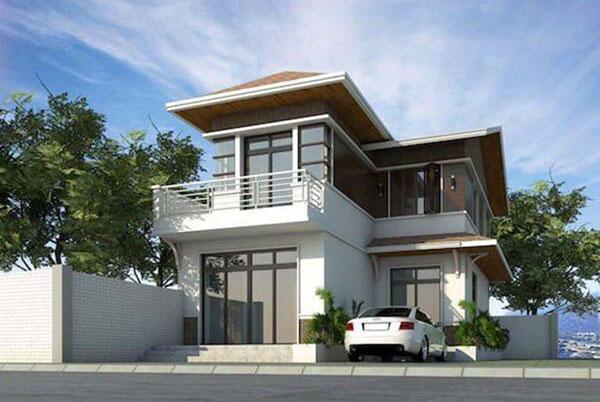Nhà 2 tầng mái thái 2 mặt tiền