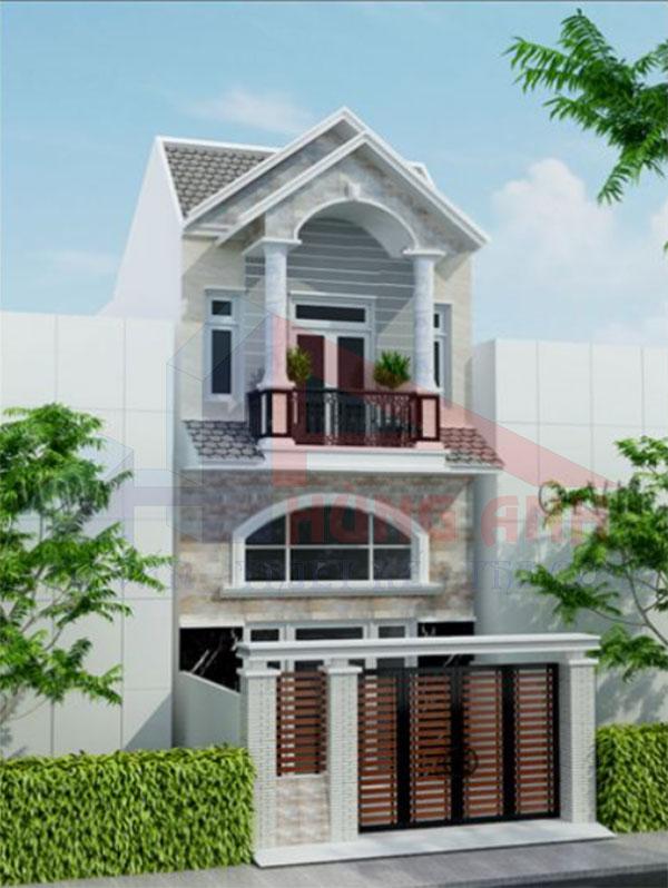 Nhà 2 tầng tân cổ điển hiện đại mái thái